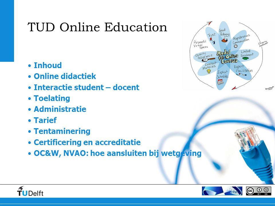 TUD Online Education Inhoud Online didactiek