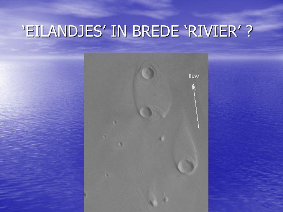 'EILANDJES' IN BREDE 'RIVIER'