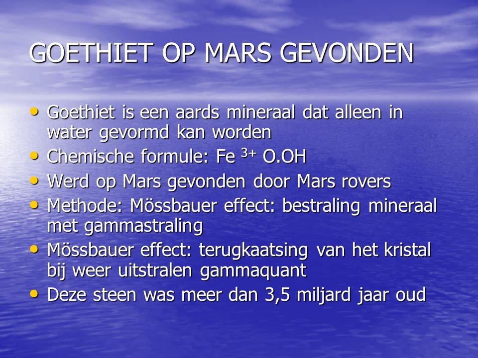 GOETHIET OP MARS GEVONDEN