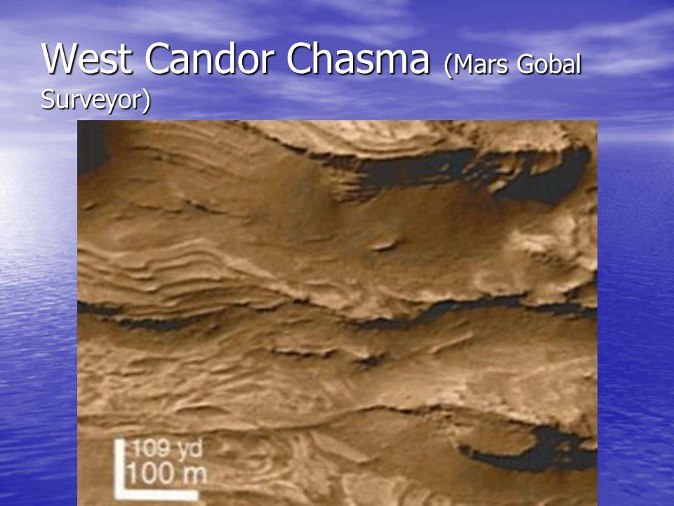 West Candor Chasma (Mars Gobal Surveyor)