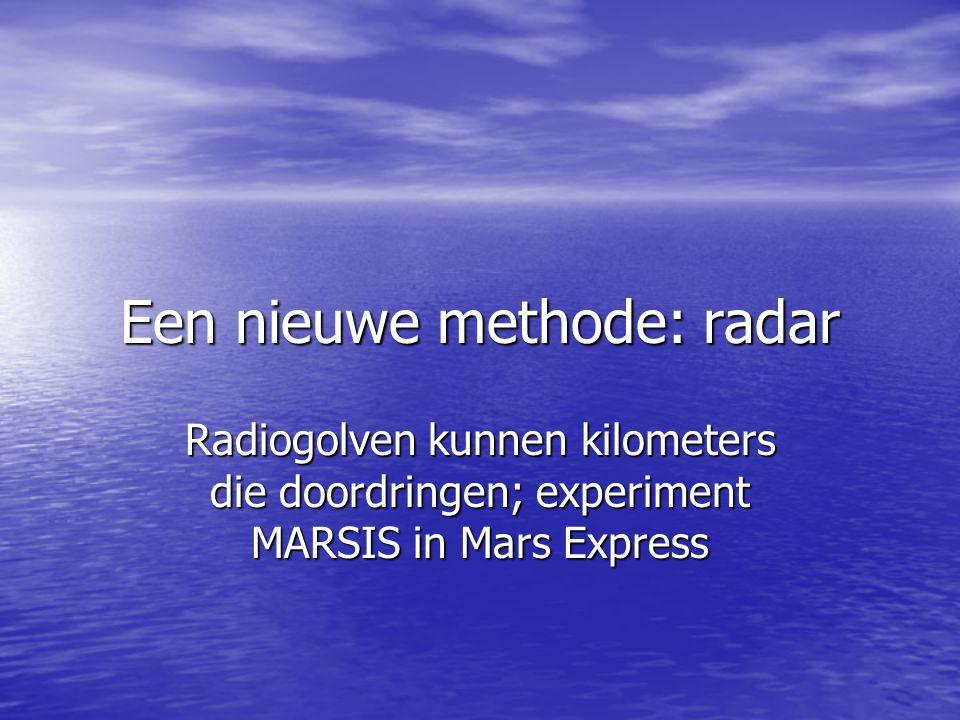 Een nieuwe methode: radar