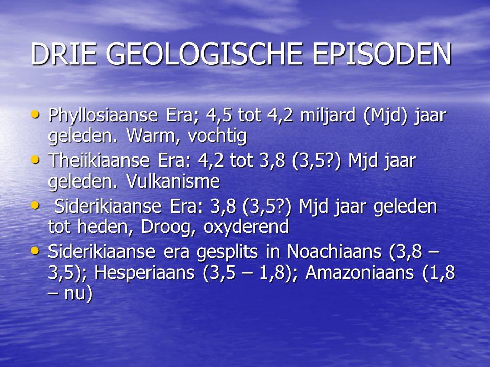 DRIE GEOLOGISCHE EPISODEN