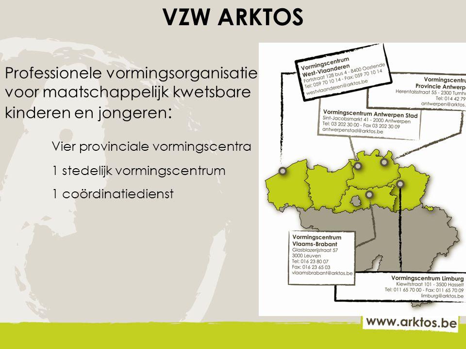 VZW ARKTOS Vier provinciale vormingscentra