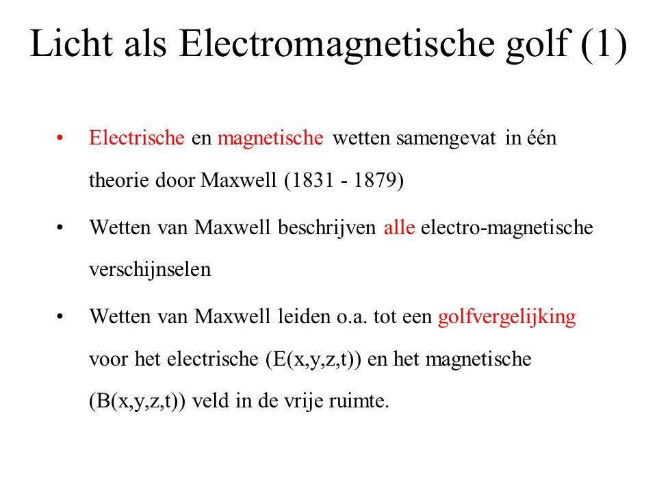 Licht als Electromagnetische golf (1)