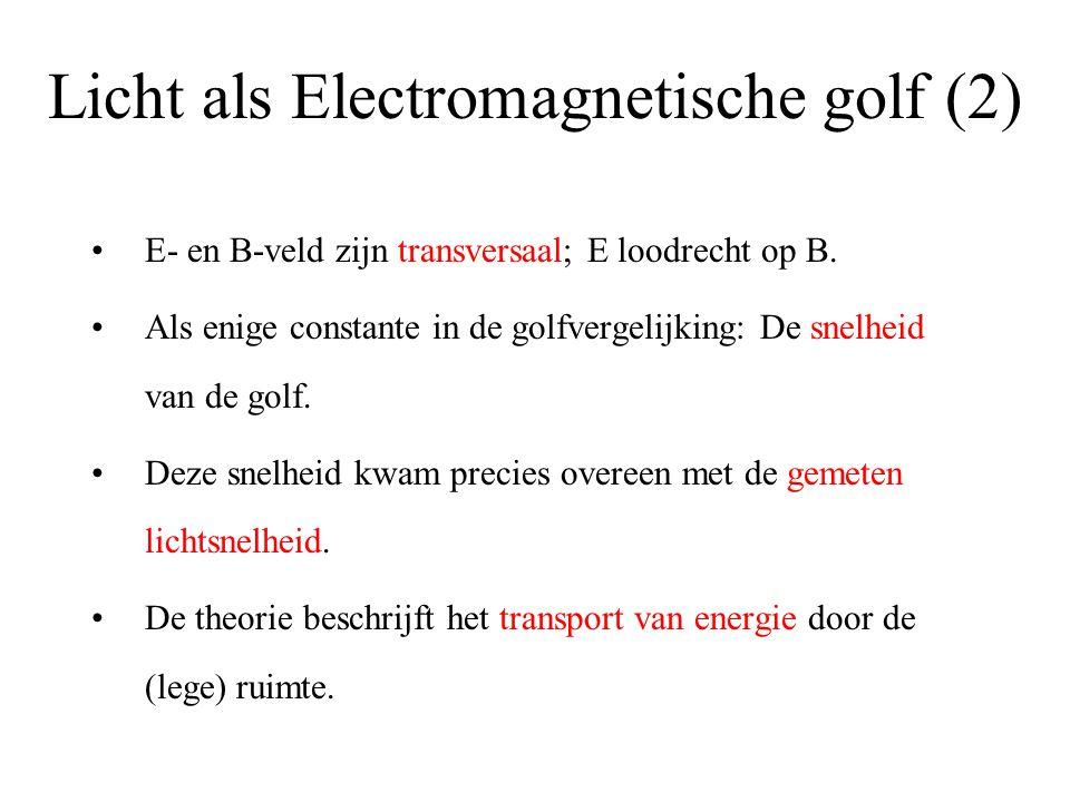 Licht als Electromagnetische golf (2)