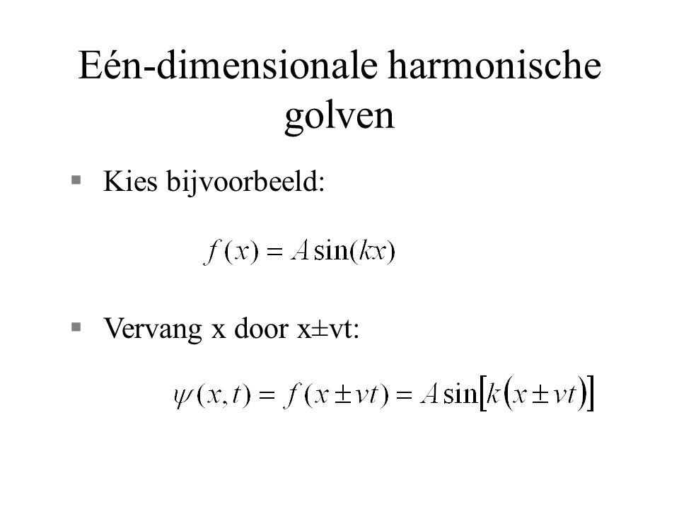 Eén-dimensionale harmonische golven