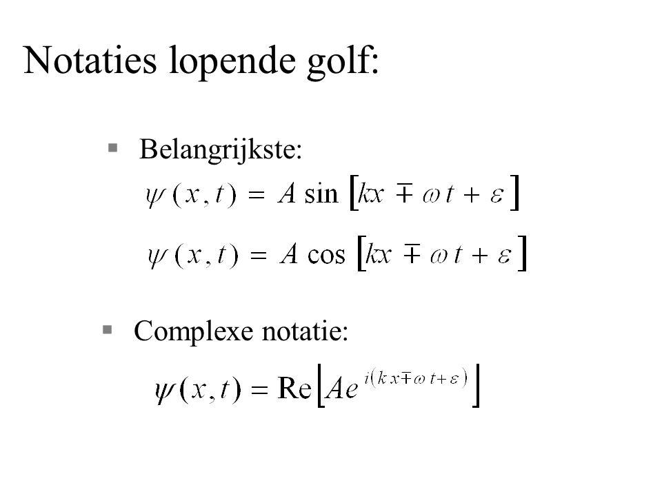 Notaties lopende golf: