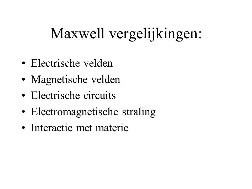 Maxwell vergelijkingen: