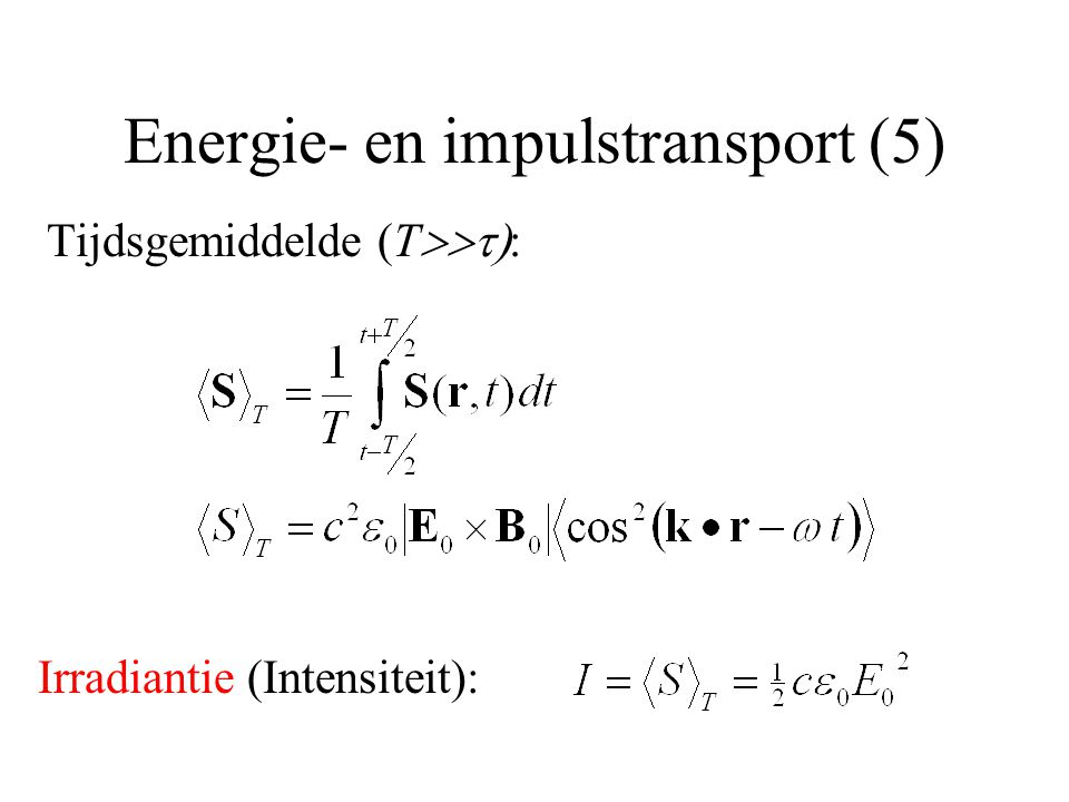 Energie- en impulstransport (5)