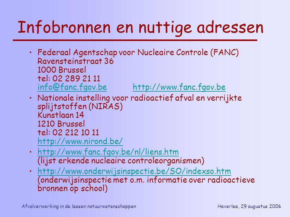 Infobronnen en nuttige adressen
