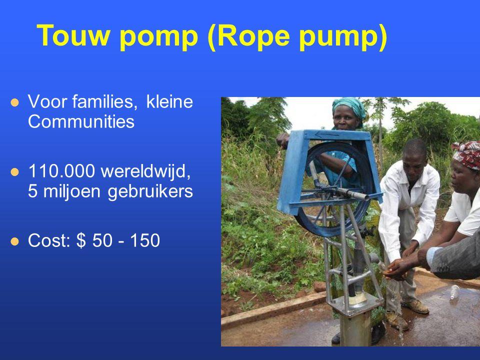 Touw pomp (Rope pump) Voor families, kleine Communities
