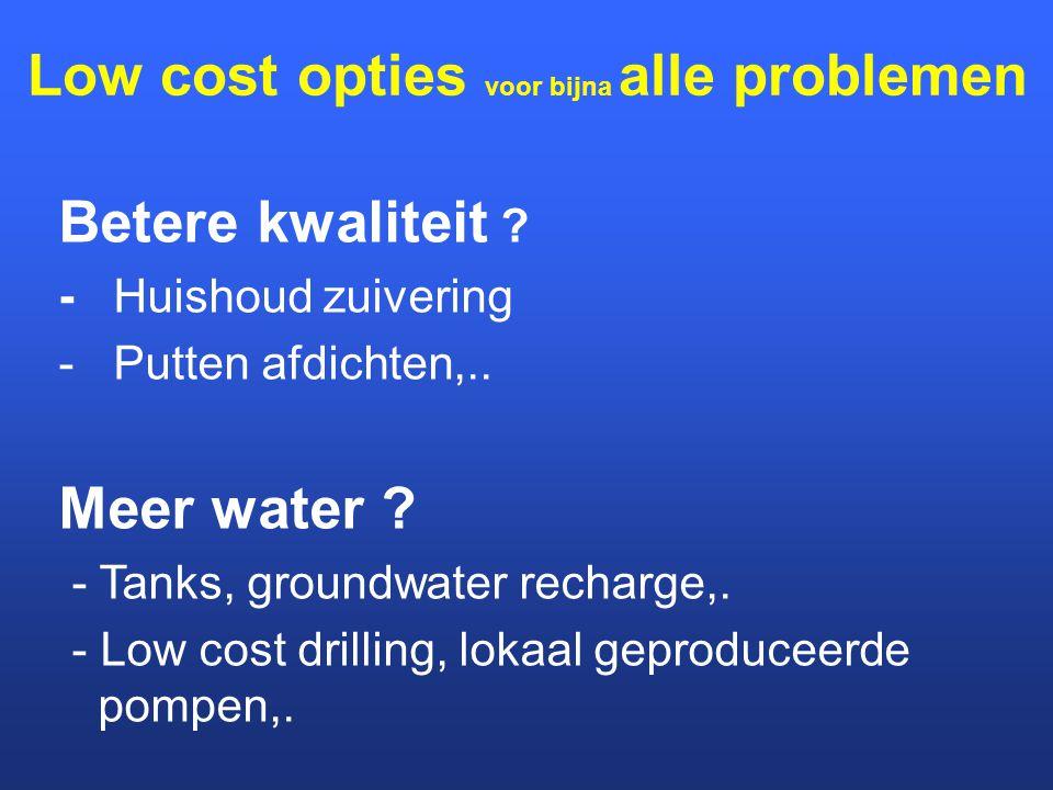 Low cost opties voor bijna alle problemen