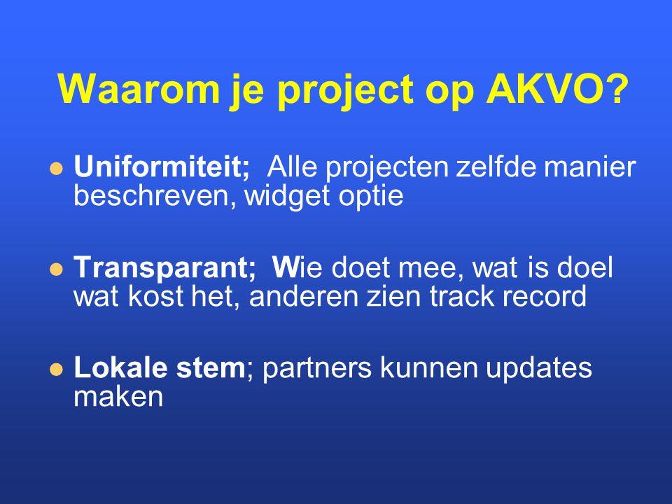 Waarom je project op AKVO