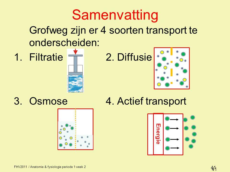 Samenvatting Grofweg zijn er 4 soorten transport te onderscheiden: