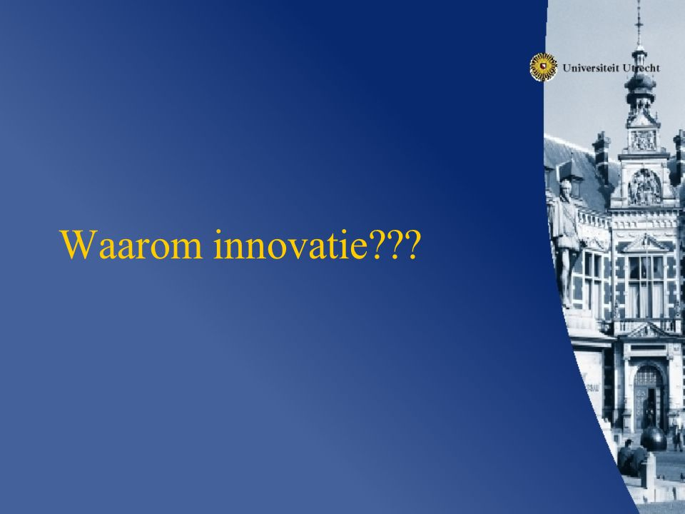Waarom innovatie
