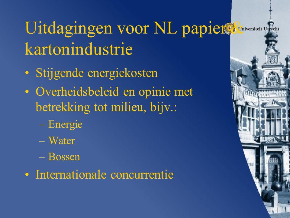 Uitdagingen voor NL papier & kartonindustrie