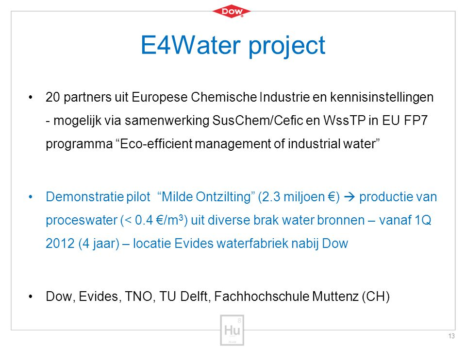 E4Water project