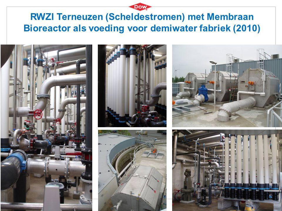 RWZI Terneuzen (Scheldestromen) met Membraan Bioreactor als voeding voor demiwater fabriek (2010)