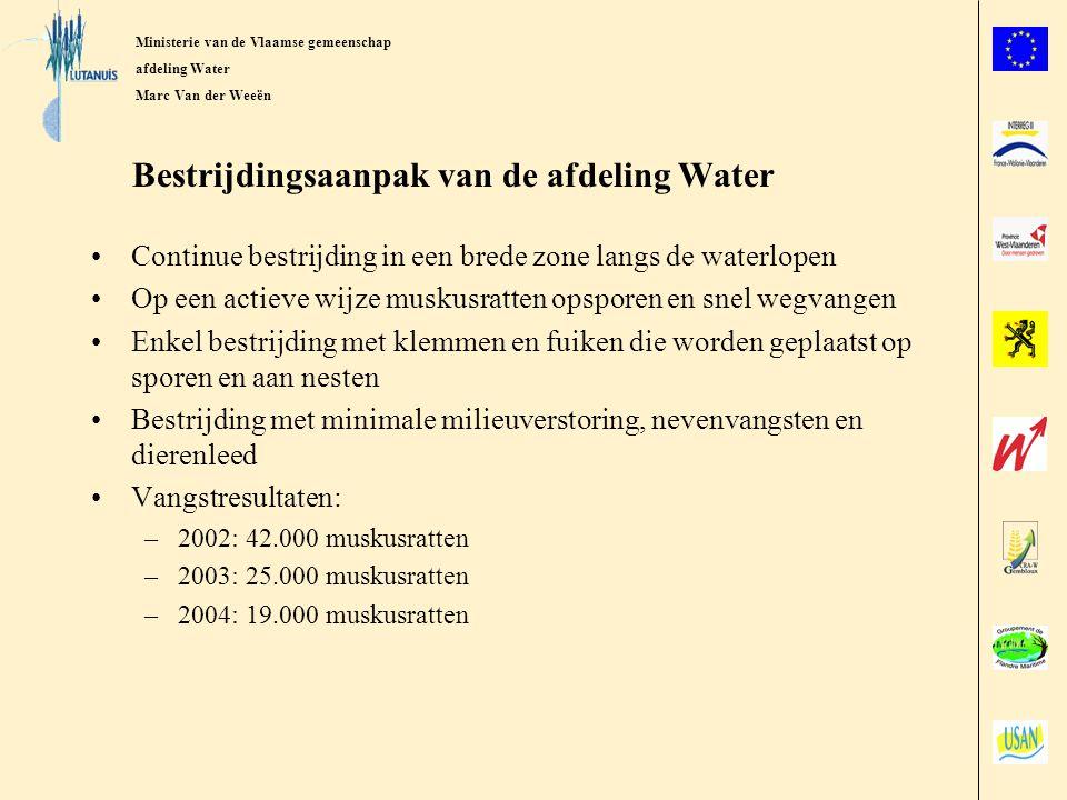 Bestrijdingsaanpak van de afdeling Water