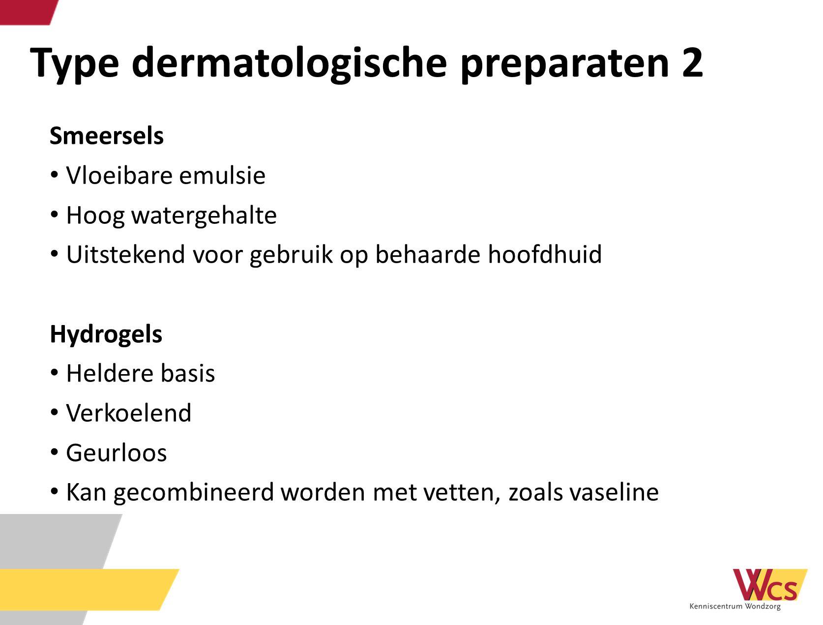 Type dermatologische preparaten 2