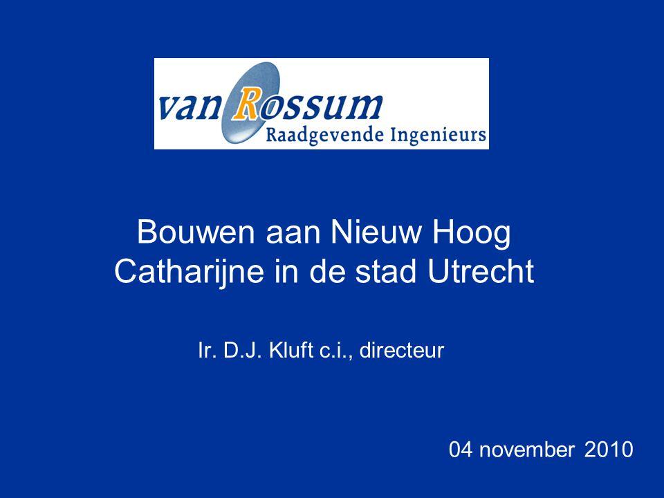 Bouwen aan Nieuw Hoog Catharijne in de stad Utrecht