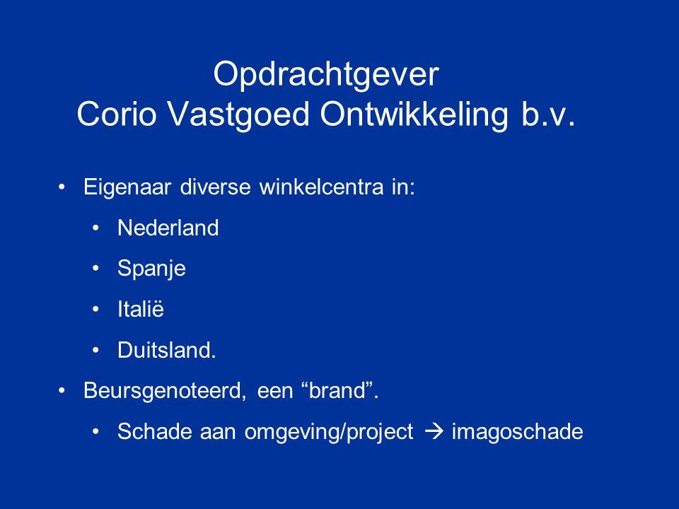 Opdrachtgever Corio Vastgoed Ontwikkeling b.v.