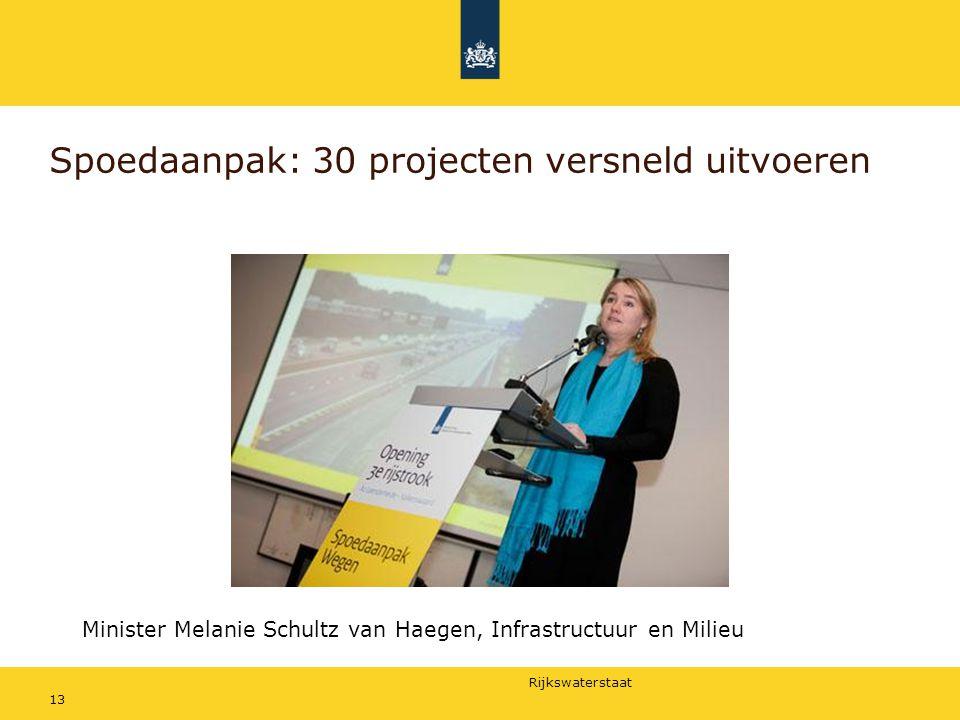 Spoedaanpak: 30 projecten versneld uitvoeren