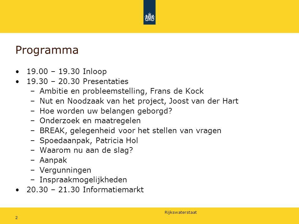 Programma 19.00 – 19.30 Inloop 19.30 – 20.30 Presentaties