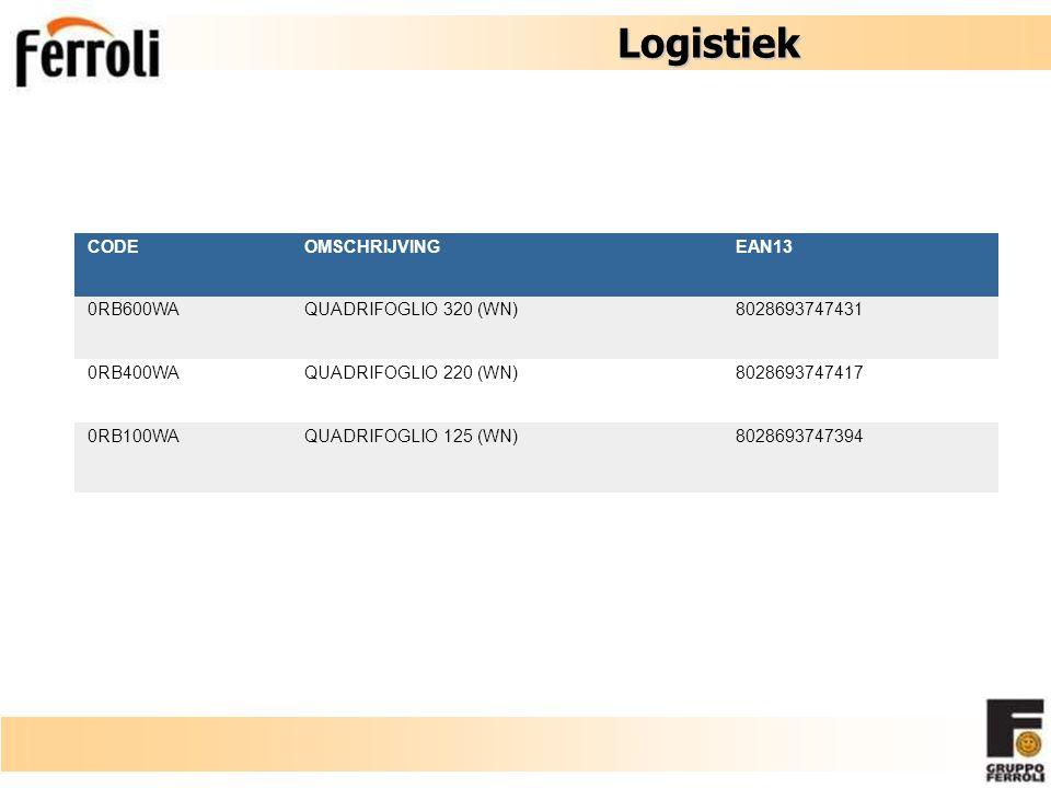 Logistiek CODE OMSCHRIJVING EAN13 0RB600WA QUADRIFOGLIO 320 (WN)