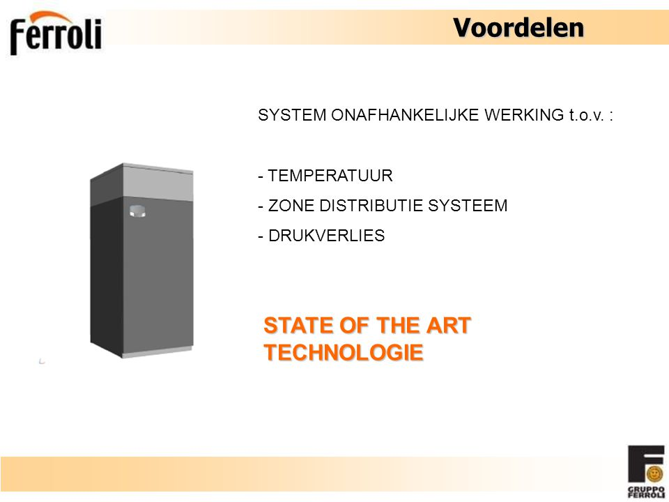 Voordelen STATE OF THE ART TECHNOLOGIE