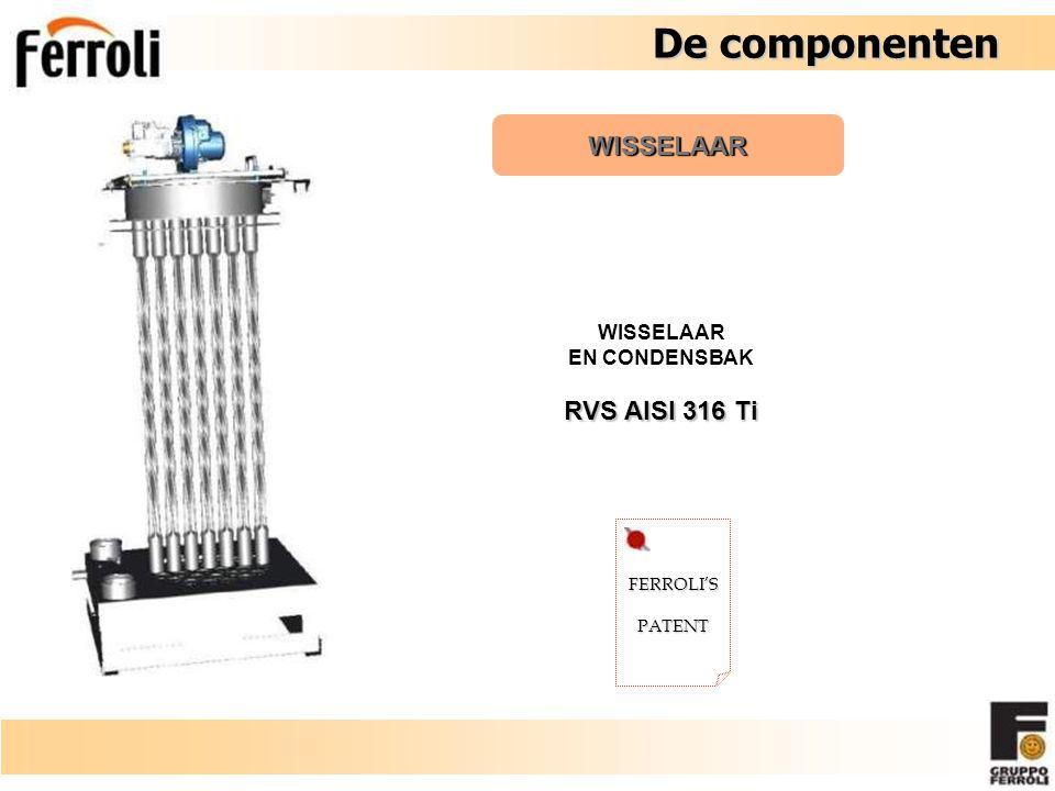 De componenten WISSELAAR RVS AISI 316 Ti WISSELAAR EN CONDENSBAK