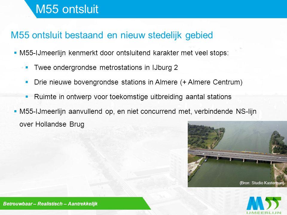 M55 ontsluit M55 ontsluit bestaand en nieuw stedelijk gebied