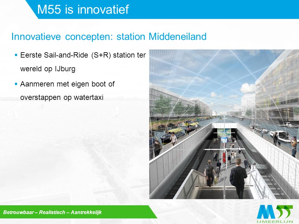 M55 is innovatief Innovatieve concepten: station Middeneiland