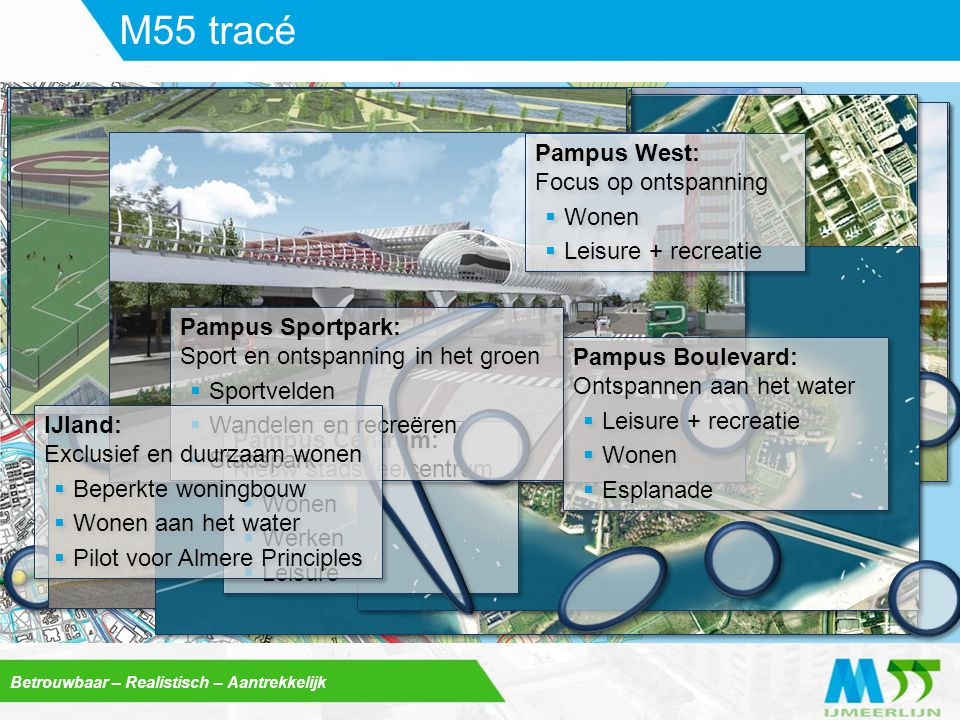 M55 tracé Pampus West: Focus op ontspanning Wonen Leisure + recreatie