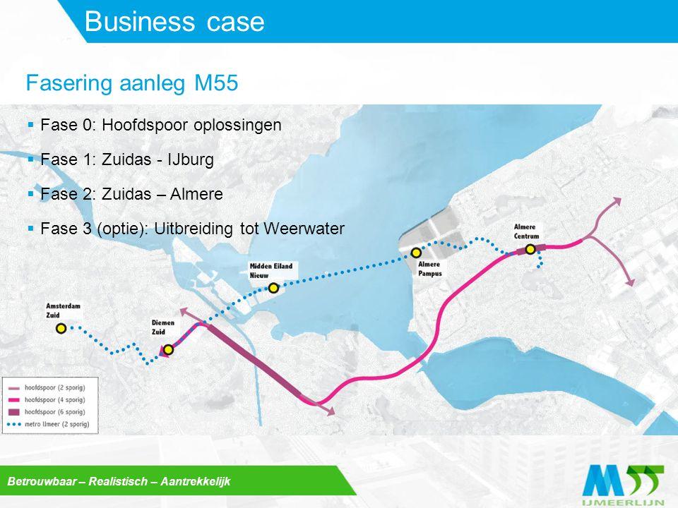 Business case Fasering aanleg M55 Fase 0: Hoofdspoor oplossingen