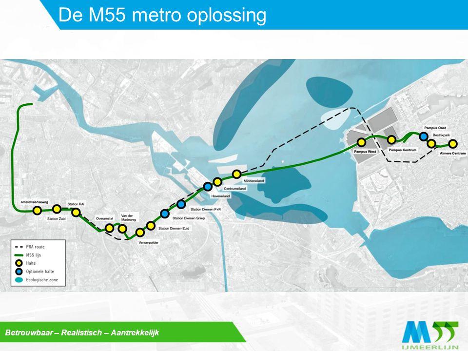 De M55 metro oplossing Betrouwbaar – Realistisch – Aantrekkelijk
