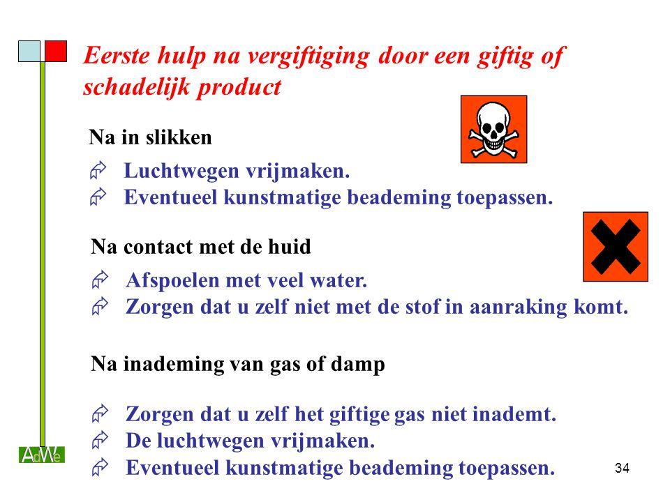 Eerste hulp na vergiftiging door een giftig of schadelijk product