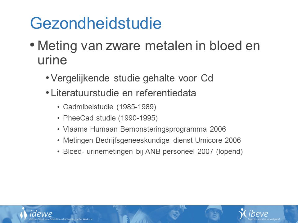 Gezondheidstudie Meting van zware metalen in bloed en urine
