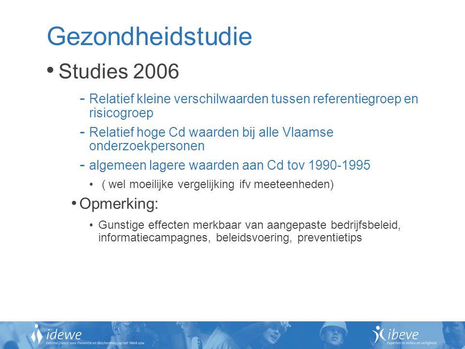 Gezondheidstudie Studies 2006 Opmerking: