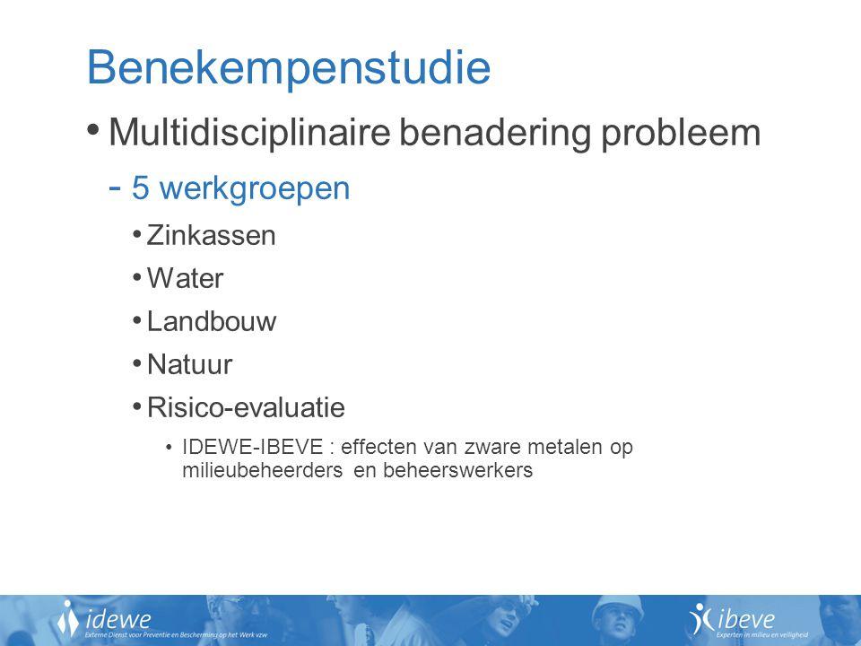 Benekempenstudie Multidisciplinaire benadering probleem 5 werkgroepen