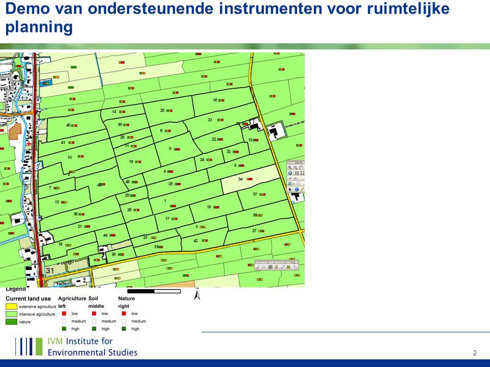 Demo van ondersteunende instrumenten voor ruimtelijke planning