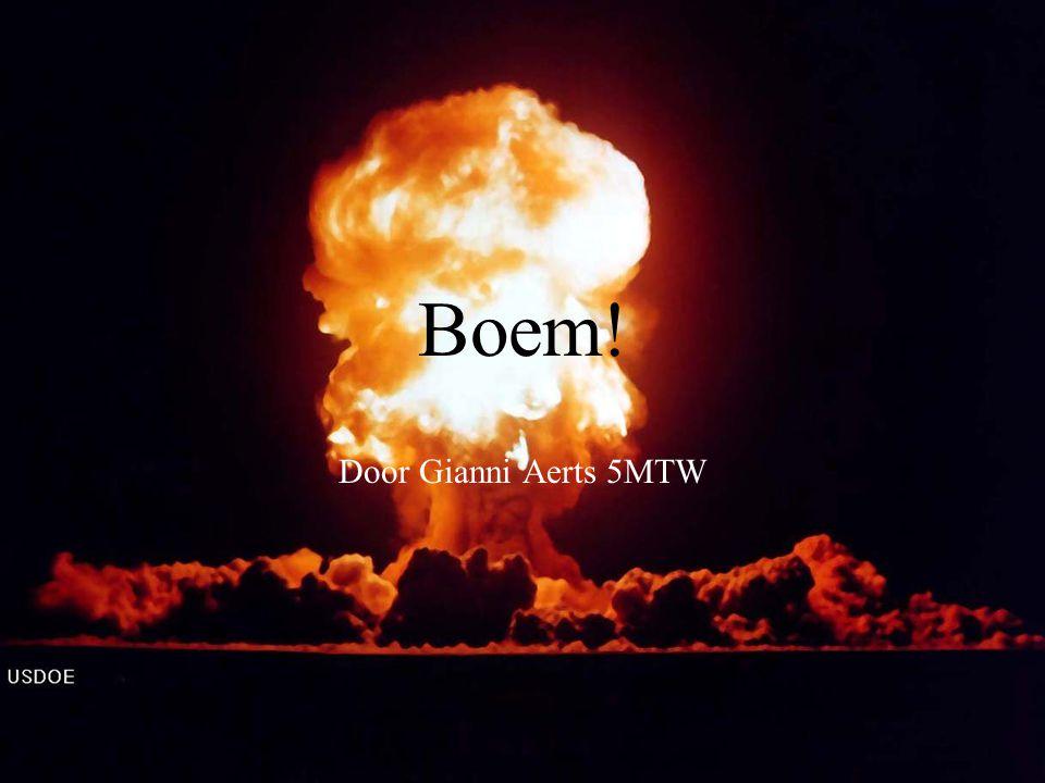 Boem! Door Gianni Aerts 5MTW