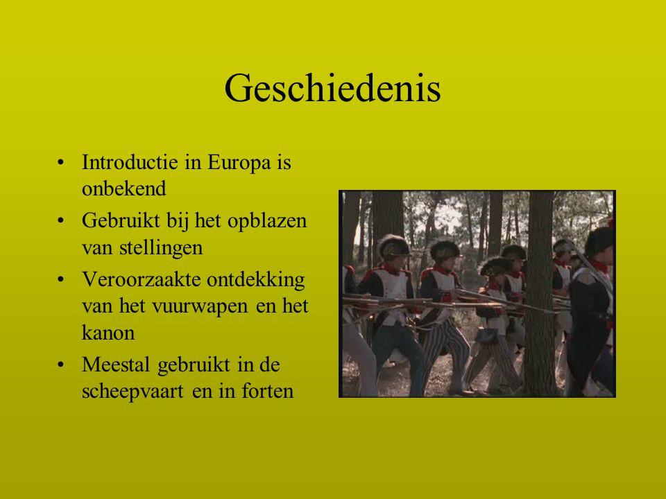 Geschiedenis Introductie in Europa is onbekend