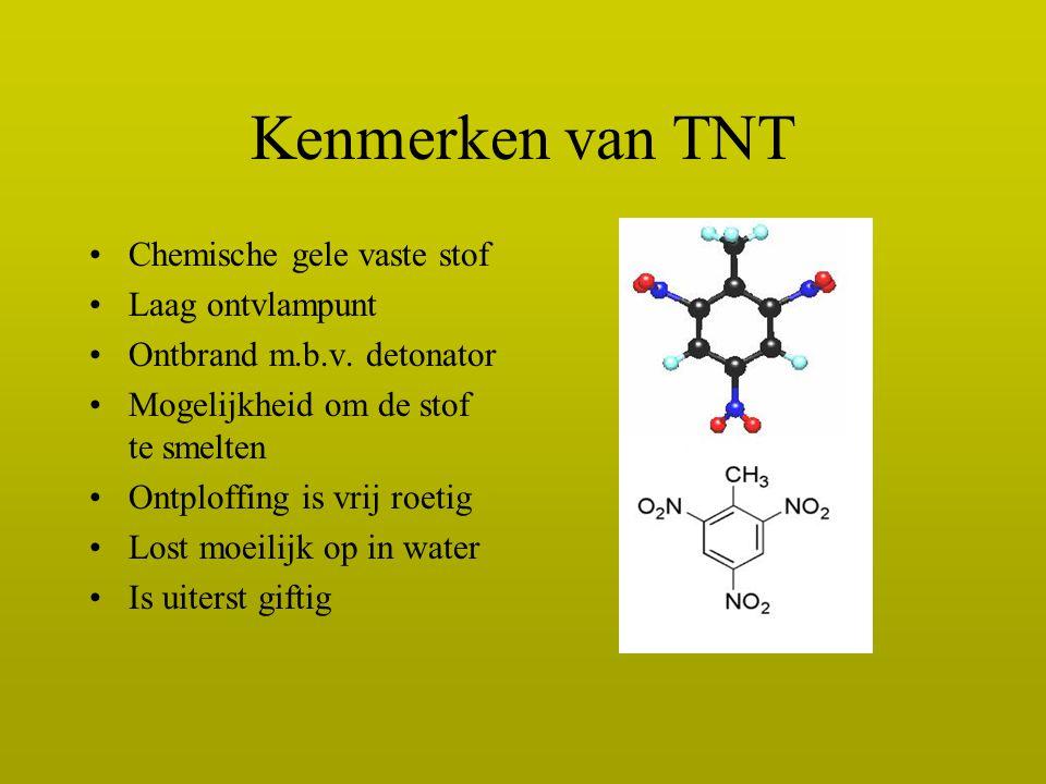 Kenmerken van TNT Chemische gele vaste stof Laag ontvlampunt