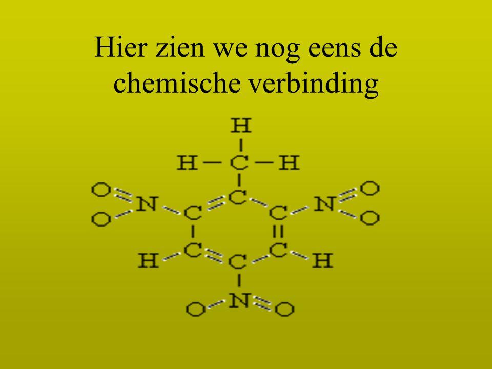 Hier zien we nog eens de chemische verbinding