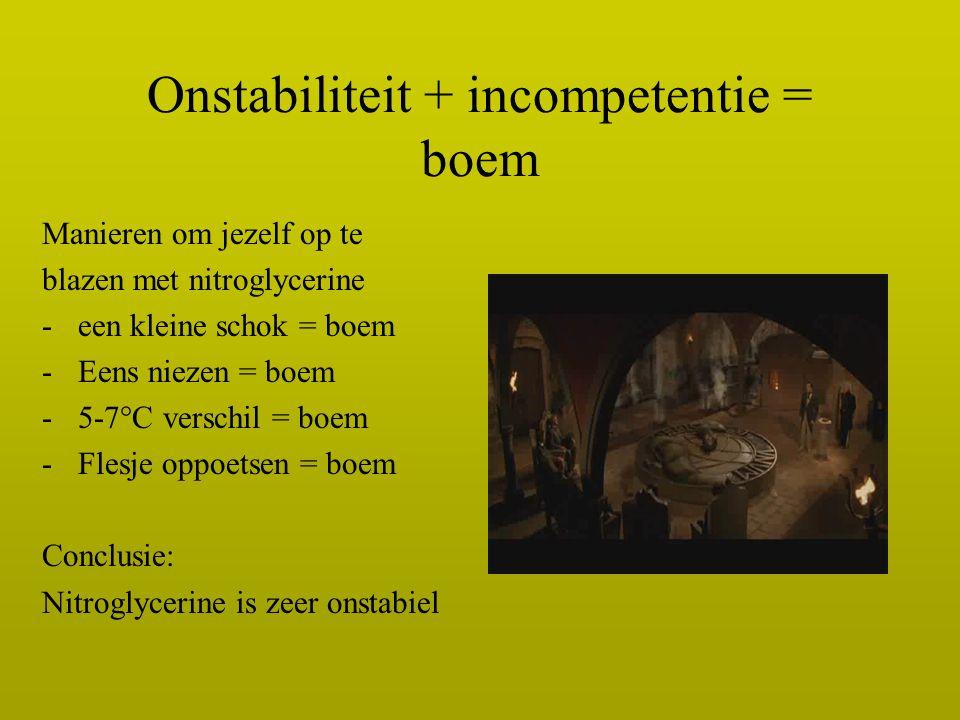 Onstabiliteit + incompetentie = boem