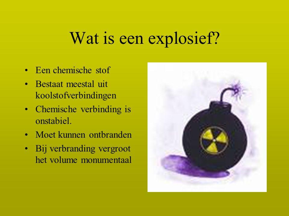 Wat is een explosief Een chemische stof