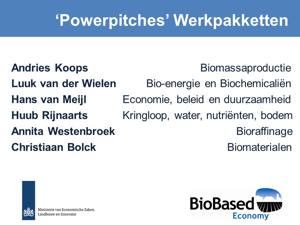 'Powerpitches' Werkpakketten