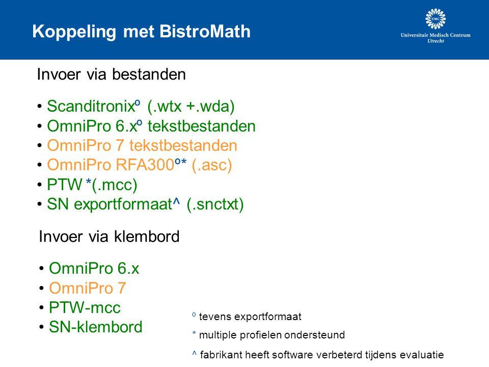 Koppeling met BistroMath