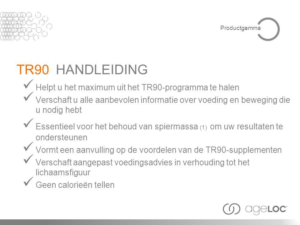 TR90 HANDLEIDING Helpt u het maximum uit het TR90-programma te halen